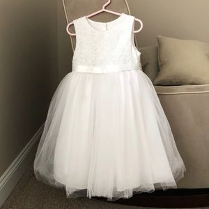 Bella by Marmellata white flower girl dress